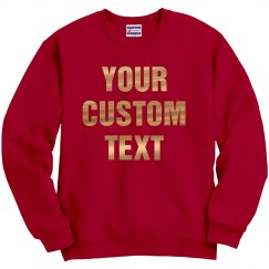 Custom Gold Foil Metallic Text