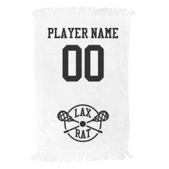 Custom Lacrosse LAX RAT Player Name & Number Towel