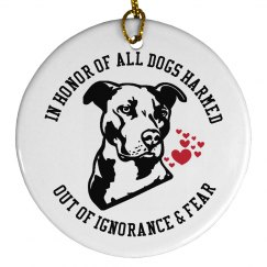 Pit Bull Dog Lovers Ornament