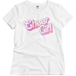 Glitter Cheer Girl Trendy Tee