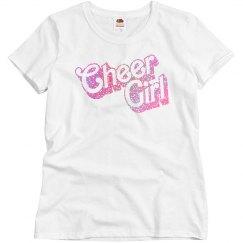 Glitter Cheer Girl Trendy Tee