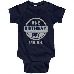 Custom 1st Birthday Onesie