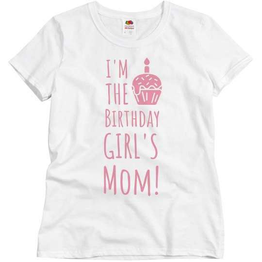 b85af785 Birthday Girl's Mom Ladies Relaxed Fit Basic Promo T-Shirt