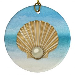 AbstractSea GoldenPearl Seashell