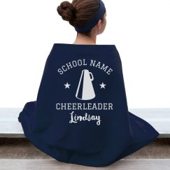 Custom Cheer School Name Blanket