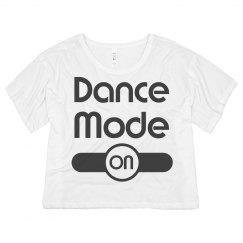 Dance Mode Crop Tee