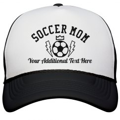 Custom Text Trendy Soccer Mom