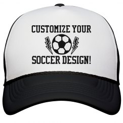 Custom Soccer Hat For Mom Or Dad