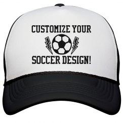 Custom Soccer Hat For Mom Or Dad