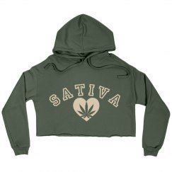 Sativa Crop Hoodie