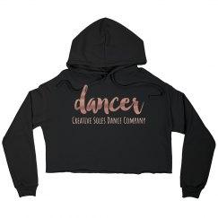 Dancer Cropped Hoodie
