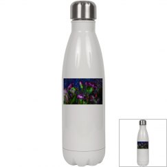 Abstract Pink Carnations Water Bottle
