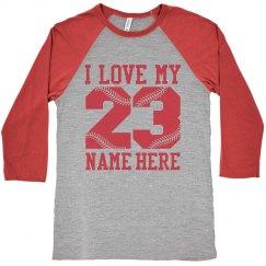 Trendy Baseball Girlfriend Raglan Shirts to Customize