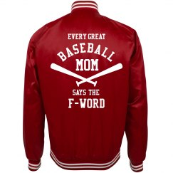 Baseball Mom Says The F-Word Jersey