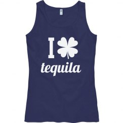 I Love Tequila Funny St. Patrick's Day Bad & Boozy