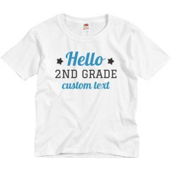 Hello Second Grade Custom Back to School