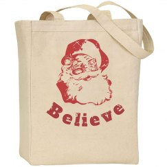 Santa Believe Tote Bag
