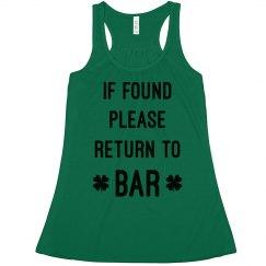 Trendy If Found Return To Bar