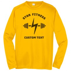 Custom Gym & Fitness Studio Performance Long-Sleeve Tee