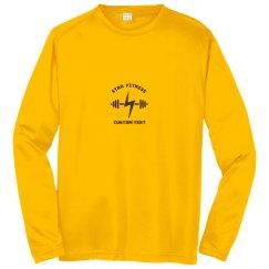 Custom Gym & Fitness Studio Performance Long-Sleeve Tee