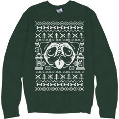 Christmas Pug Green Ugly Sweater