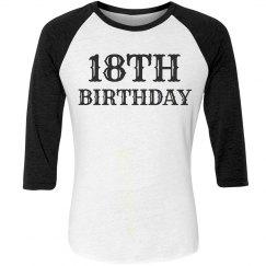 18th Birthday long sleeve Tee