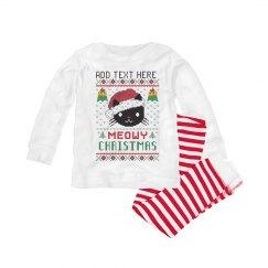 Baby's Meowy Christmas PJ Set