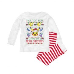 Add Your Text Merry Christmas Baby PJ's