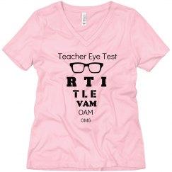 Teacher Eye Test