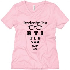 Teacher Eye Test