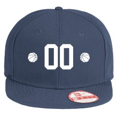 Custom Basketball Number Flat Bill Hat