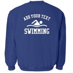 Custom Text Swim Team