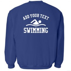 Custom Text Swim Team