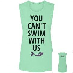 You Can't Swim Mermaid BFF