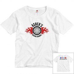 Asher's Racing Channel new logo youth t-shirt
