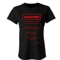 Seasoned Woman Tee Black/Red