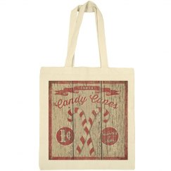 Candy Canes Christmas Tote Bag