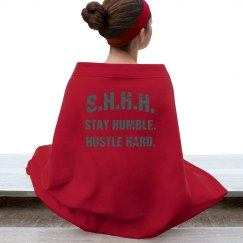 SHHH! STAY HUMBLE HUSTLE HARD TEAL TEXT BLANKET