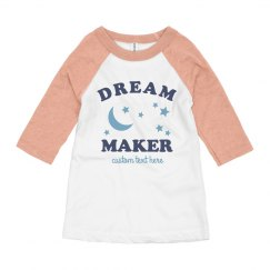 Dream Maker Trendy Girl's Raglan
