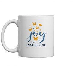 Joy is an Inside Job Mug (Blue)