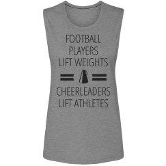 Funny Cheerleaders Lift Athletes