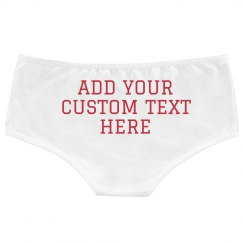 Custom Text Ladies Underwear