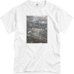 Distressed unisex ocean T-shirt