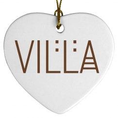I Love the Villa Ornament