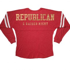 Metallic Republican Raised Right