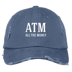 ATM Dad Hat Money On Top