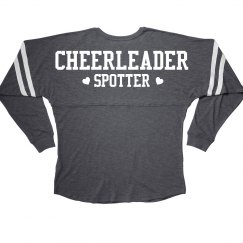 Cheerleader Spotter Cheer Girl Squad Long Sleeve Slub