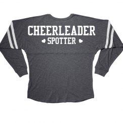 Cheerleader Spotter Cheer Girl Squad Long Sleeve Slub