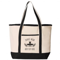 Customizable Dance Mom Tote Bag