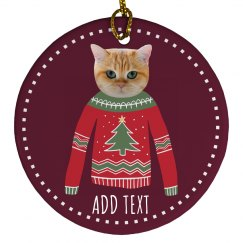 Funny Pet Photo Custom Ornament